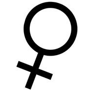 tecken för kvinna