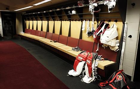 Inredning omklädningsrum ishockey